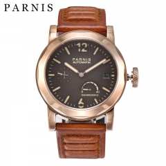 44mm Parnis Power Reverse Automatic Movement Men's Watch Sapphire Luminous Mark