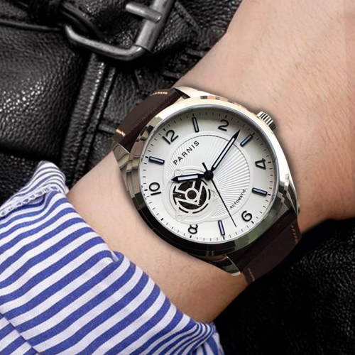 Parnis Sapphire Crystal Japan Automatic Mechanical Men's Casual Watch 42mm Case